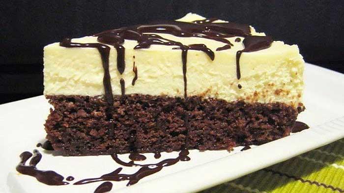 Обожаю в десертах дуэт шоколада с творогом! Великолепный брауни-чизкейк