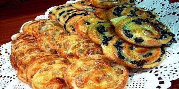 Французские булочки с пьяным изюмом и нежнейшим заварным кремом