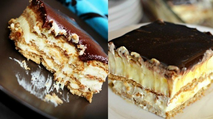 Это самый вкусный торт выпечки, который я пробовала! Нежнейшее сливочное удовольствие!