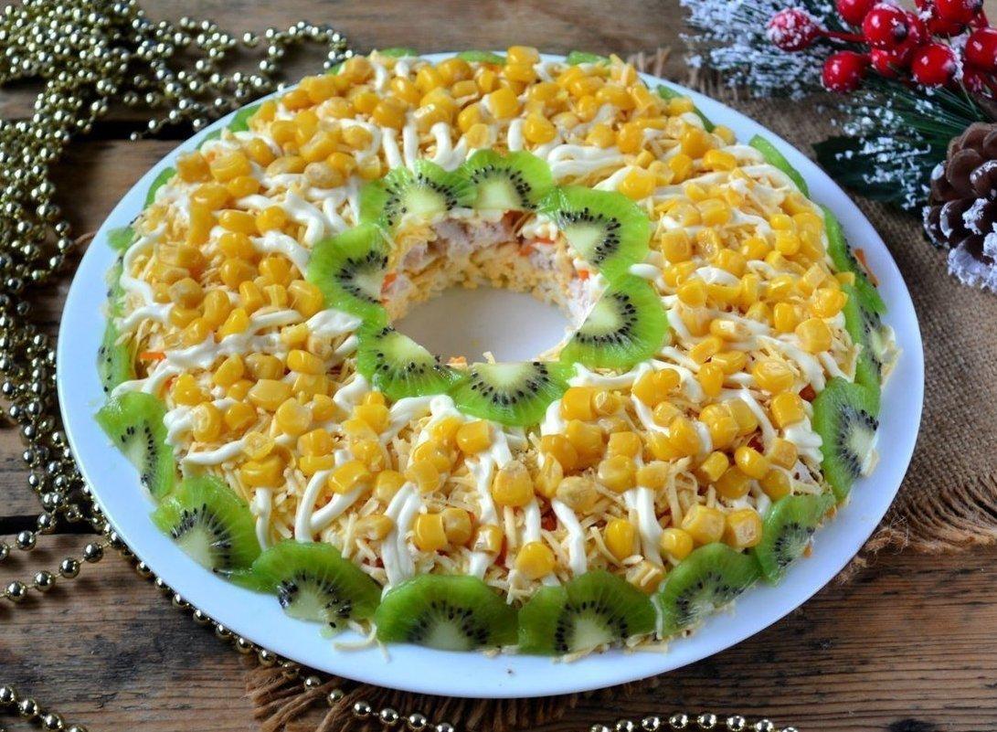 Салаты с кукурузой на новый год 2017 рецепты с