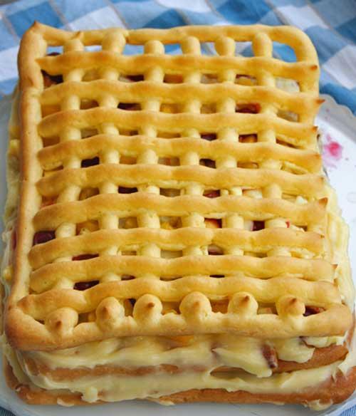Самый вкусный и полезный фруктовый тортик «Лакомка». Летнее лакомство №1