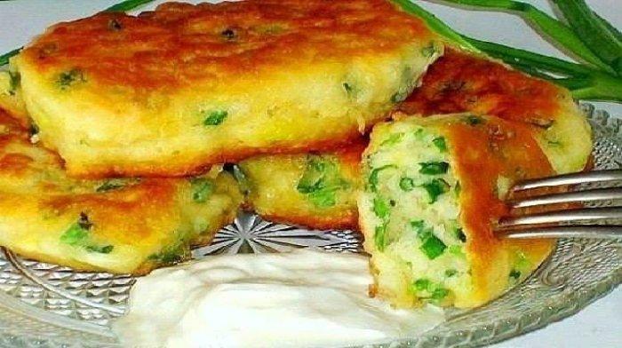 Самые ленивые пирожки c яйцом и зелёным луком. Проще некуда!