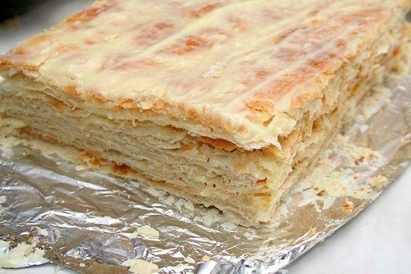 Торты из слоеного теста наполеон