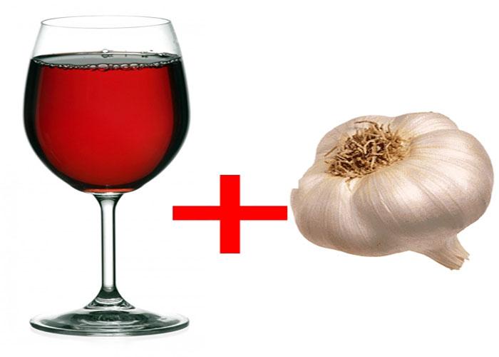 Чеснок и вино - ускорит обмен веществ и уберёт весь лишний жир