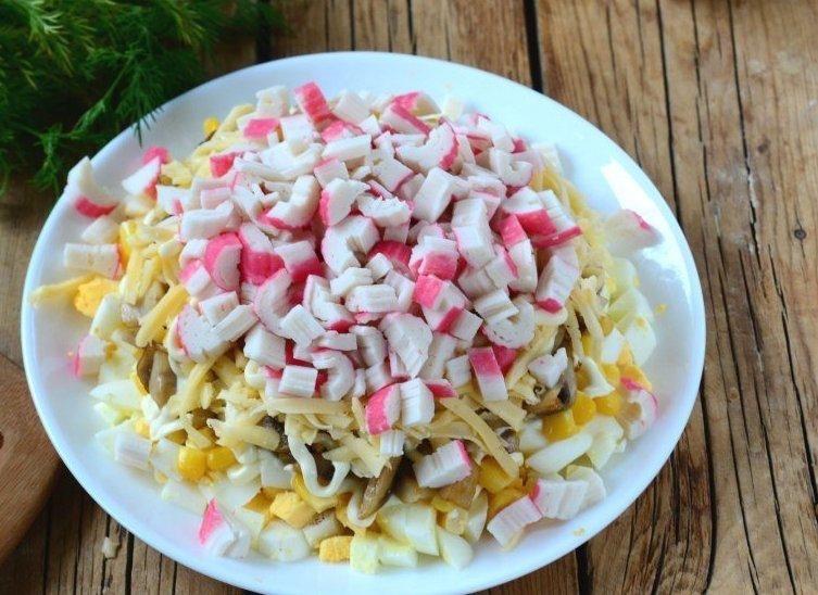 Рецепт салата из грибов и кукурузы 74