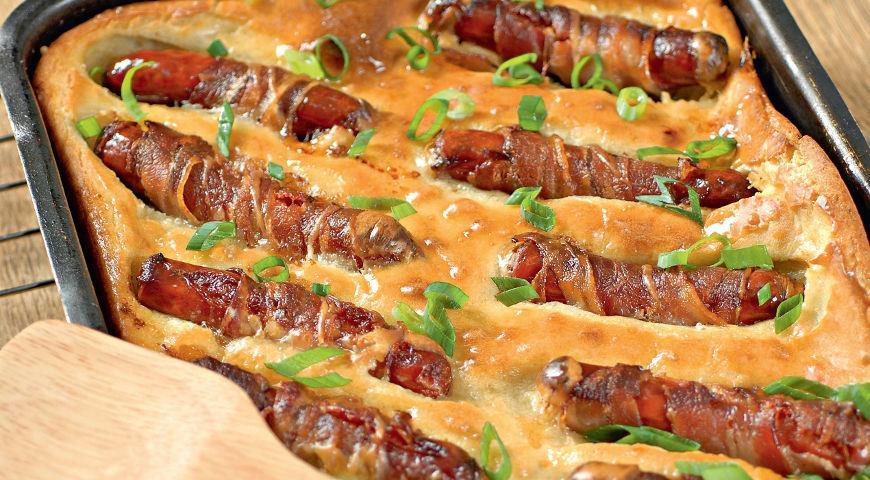 Запеканка с сосисками в духовке рецепт