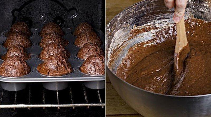 Быстрые шоколадные кексы. Просто объедение!