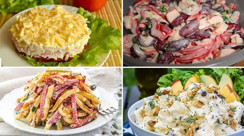 Отличная подборка из 10 самых вкусных и быстрых салатов