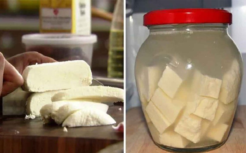 Сыр из молока, сметаны и лимонного сока