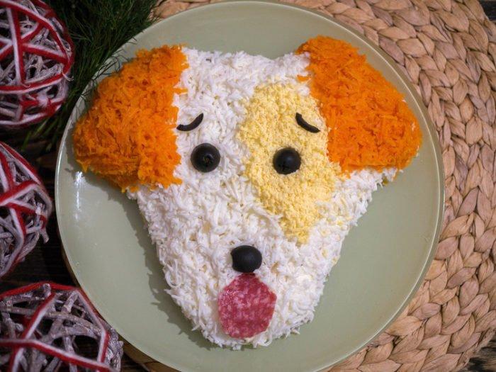 Самый актуальный салат на 2018 год — «Собака»