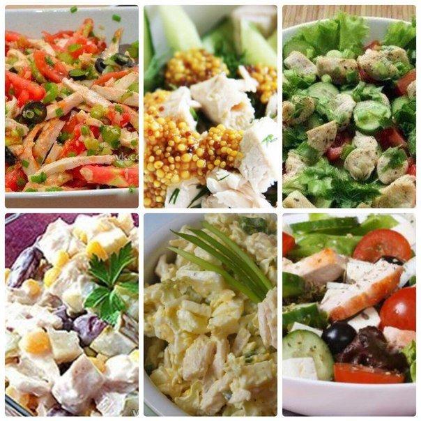 6 диетических салатов из курицы. Сохрани себе!