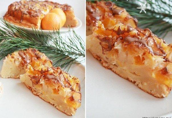 Обалденный заливной мандариновый пирог