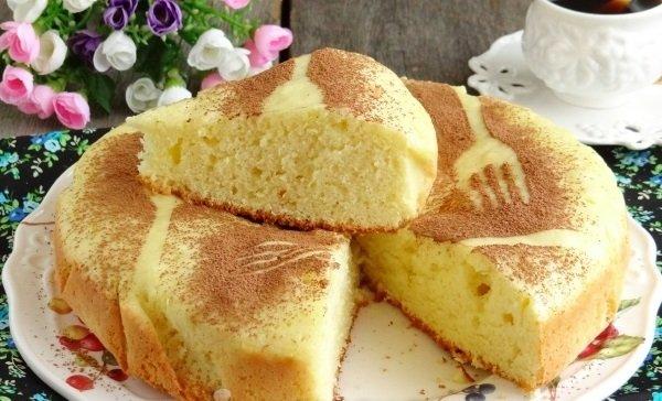 Готовим пышный и вкусный бисквит на сковороде