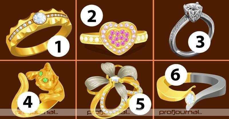 Кольцо, которое вы выберете, многое расскажет о вашем характере и глубочайших секретах