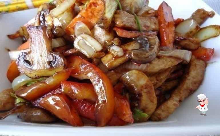 Курица тушеная с грибами и овощами. Обалденно вкусное блюдо