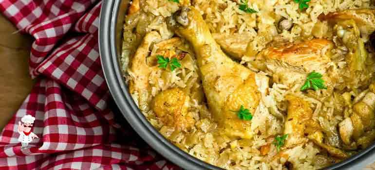 Куриный плов в сковороде