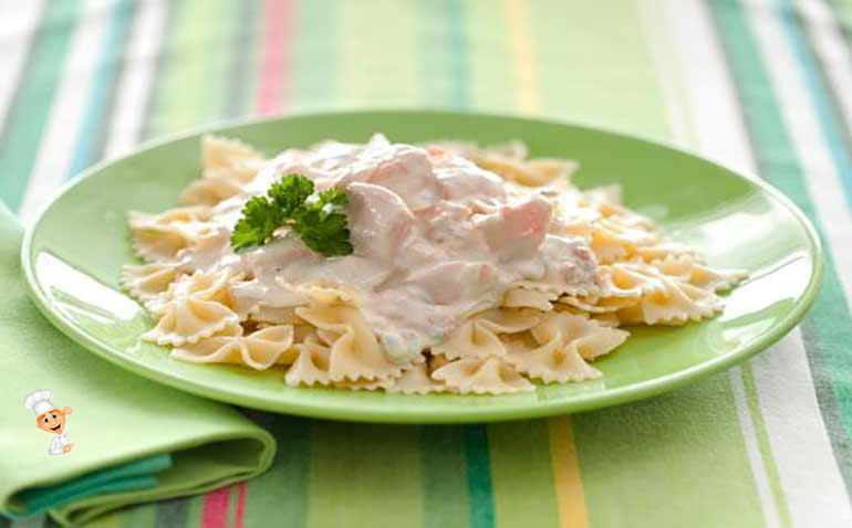 Спагетти с сырным соусом