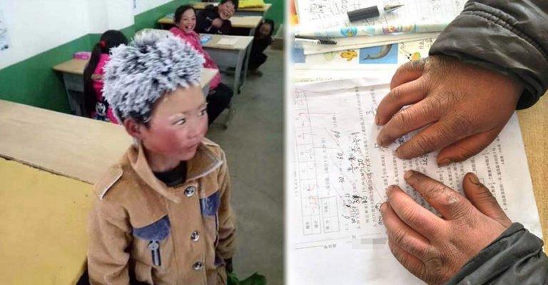 Кода этот мальчик вошёл в класс, учитель не сразу понял в чём дело. Но когда он подошёл к 8-летнему ребёнку ближе — его сердце остановилось...