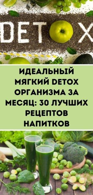 Идеальный мягкий Detox организма за месяц: 30 лучших рецептов напитков