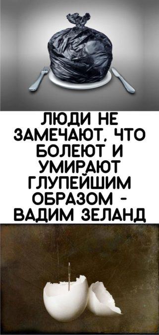 Люди не замечают, что болеют и умирают глупейшим образом - Вадим Зеланд