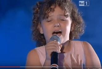 11-летняя внучка Лучано Паваротти поет не хуже своего дедушки!!!