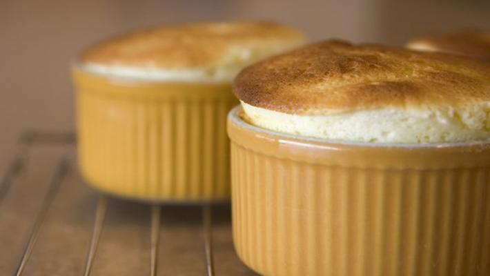 Суфле из яблочного пюре и творога моментального приготовления
