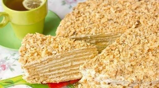 Торт «Наполеон» с очень вкусным кремом - нежнейшее объедение!