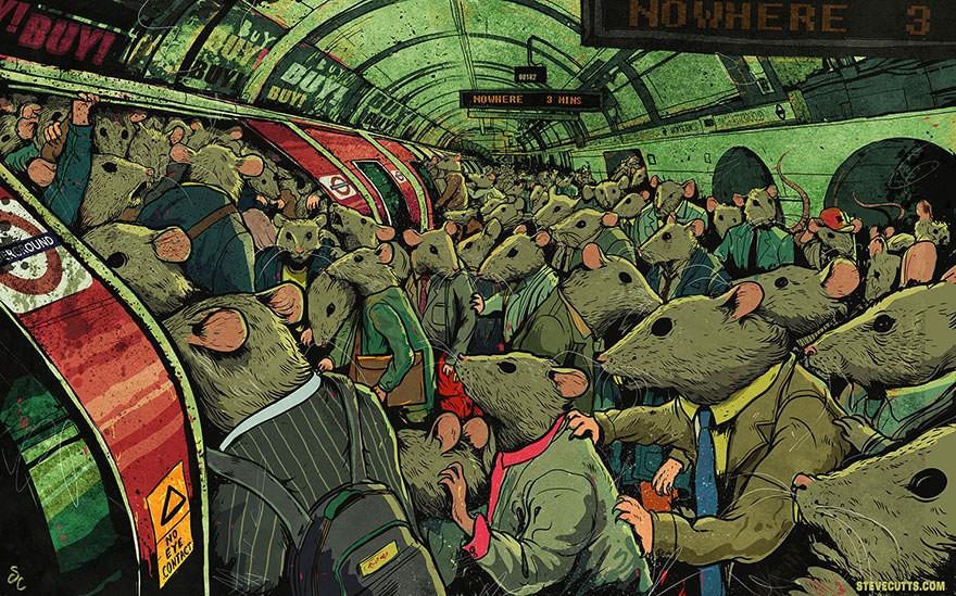 Художник создает потрясающие жизненные иллюстрации о современном обществе. Есть над чем подумать