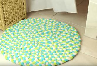 Делаем мягкий плетеный коврик для душа своими руками