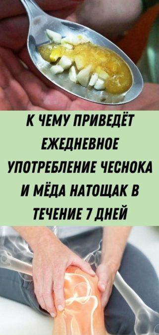 К чему приведёт ежедневное употребление чеснока и мёда натощак в течение 7 дней
