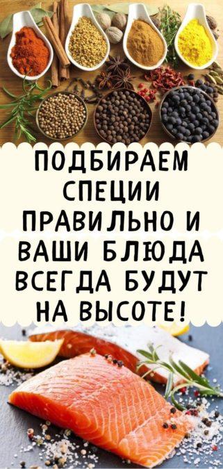 Подбираем специи правильно и ваши блюда всегда будут на высоте!