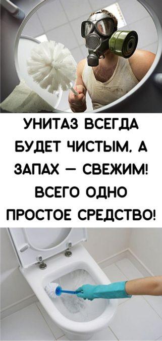 Унитаз всегда будет чистым, а запах — свежим! Всего одно простое средство!
