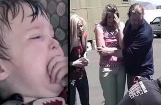 Она оставила сына в машине на 5 минут. Как только женщина вернулась, чуть не потеряла сознание!