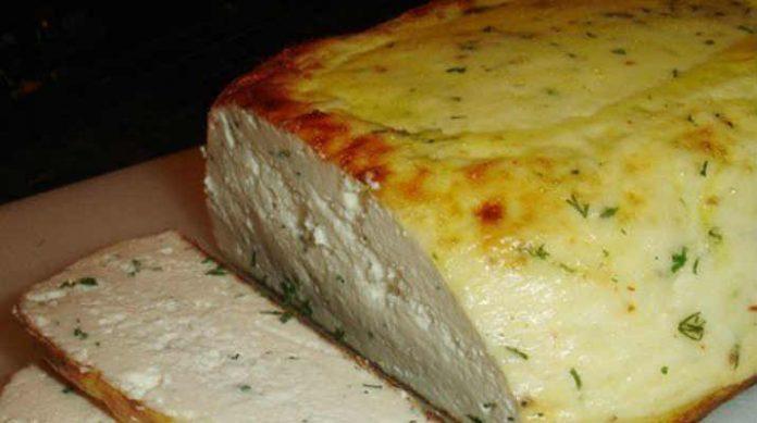 Сыр домашний, запечённый в духовке. Получается невероятная вкуснятина!