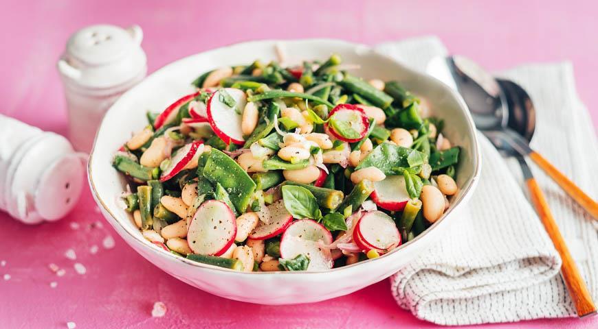 Если Вам нравится фасоль, то этот салат для Вас! Если не любили - то теперь полюбите!