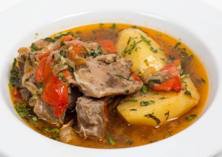 Хашлама из говядины с картофелем. Сытное армянское блюдо. Очень вкусно!