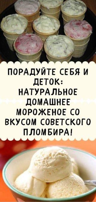 Порадуйте себя и деток: натуральное домашнее мороженое со вкусом советского пломбира!
