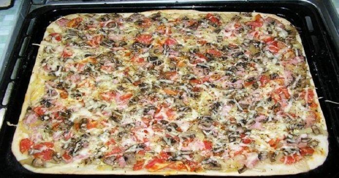 Готовим пышную пиццу за 30 минут на самом вкусном тесте!