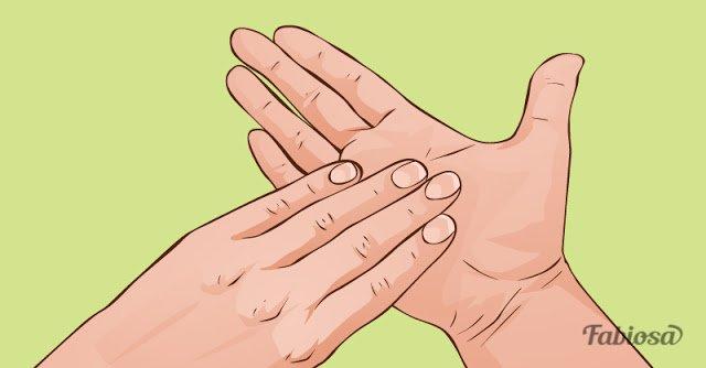 Удерживайте так пальцы 5 минут… Результат превосходит ожидания...