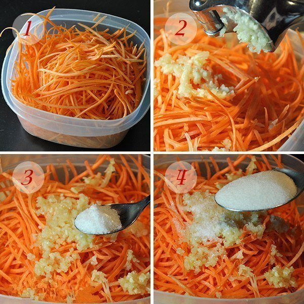 10 минут и вкусная, ароматная корейская морковка готова! Наслаждайтесь!