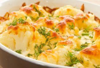 Цветная капуста с чесночным соусом, запеченная в духовке. Вкусно и низкокалорийно!