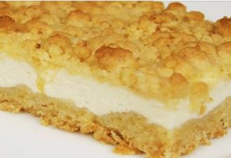 Вкуснейший творожный пирог с песочной крошкой