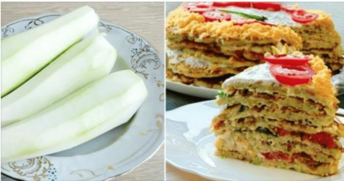Кабачки, помидоры и сыр… Такого вкусного закусочного торта я еще не ела!