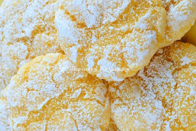 Мое самое любимое лимонное печенье из творожного теста: отменный вкус и аромат лимона!