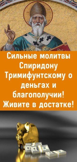 Сильные молитвы Спиридону Тримифунтскому о деньгах и благополучии! Живите в достатке!
