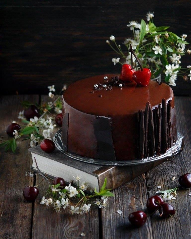 Шикарный торт Чёрный Лес