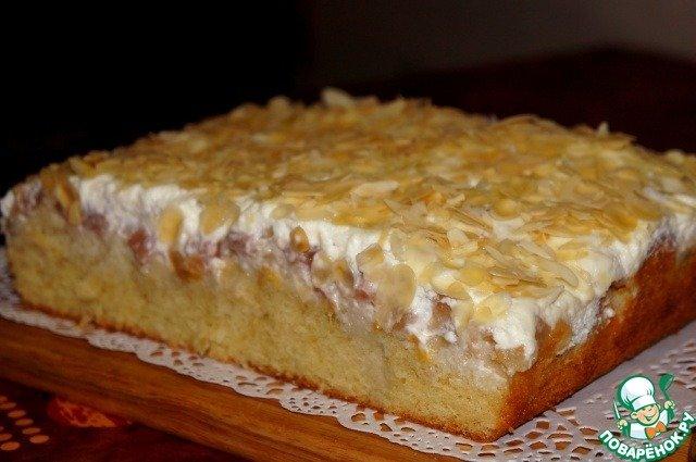 Юлькин пирог… боже мой, какая же это вкуснятина! Нежнейший пирог с персиками и грушей.