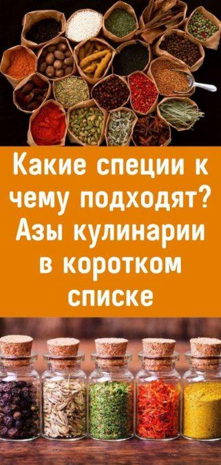 Какие специи к чему подходят? Азы кулинарии в коротком списке