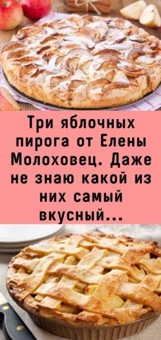Три яблочных пирога от Елены Молоховец. Даже не знаю какой из них самый вкусный...