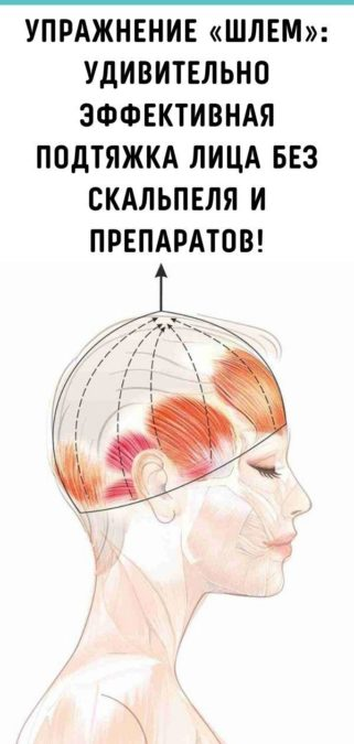 Упражнение «Шлем»: удивительно эффективная подтяжка лица без скальпеля и препаратов!